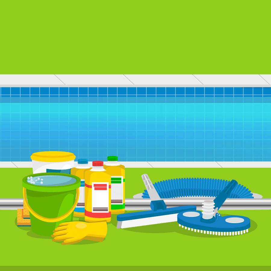 produtos para limpeza e manutenção de piscina