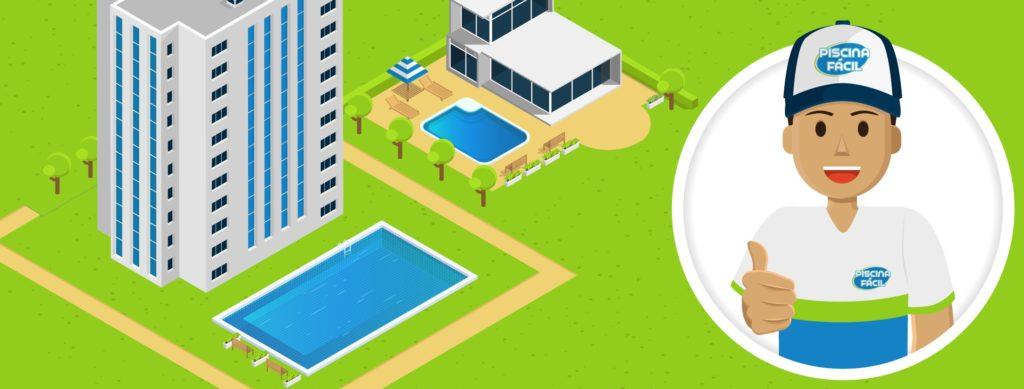 Prédio com piscina