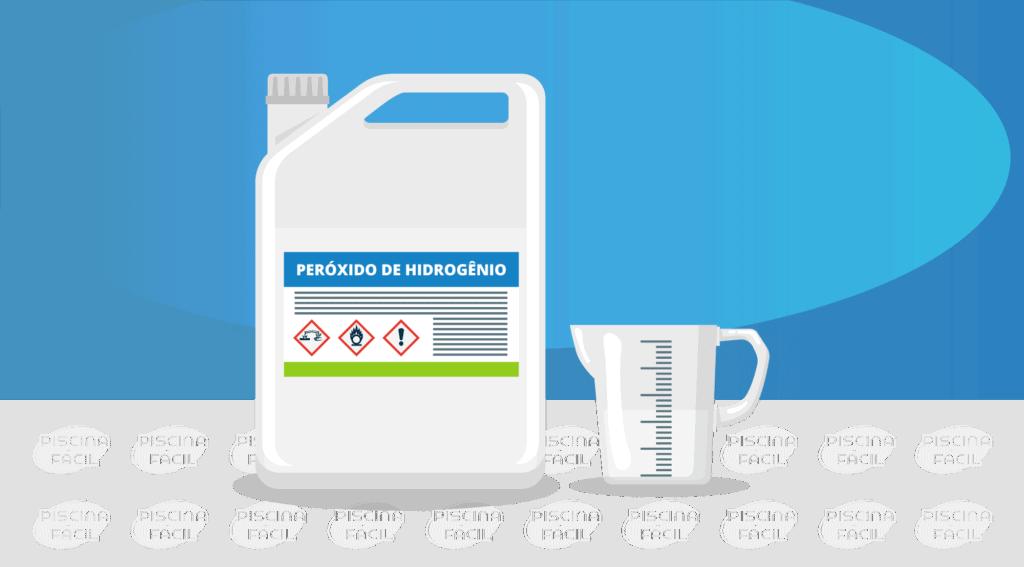 Peróxido de hidrogênio para tratamento de piscinas sem cloro