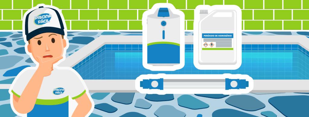 desvantagens da piscina sem cloro